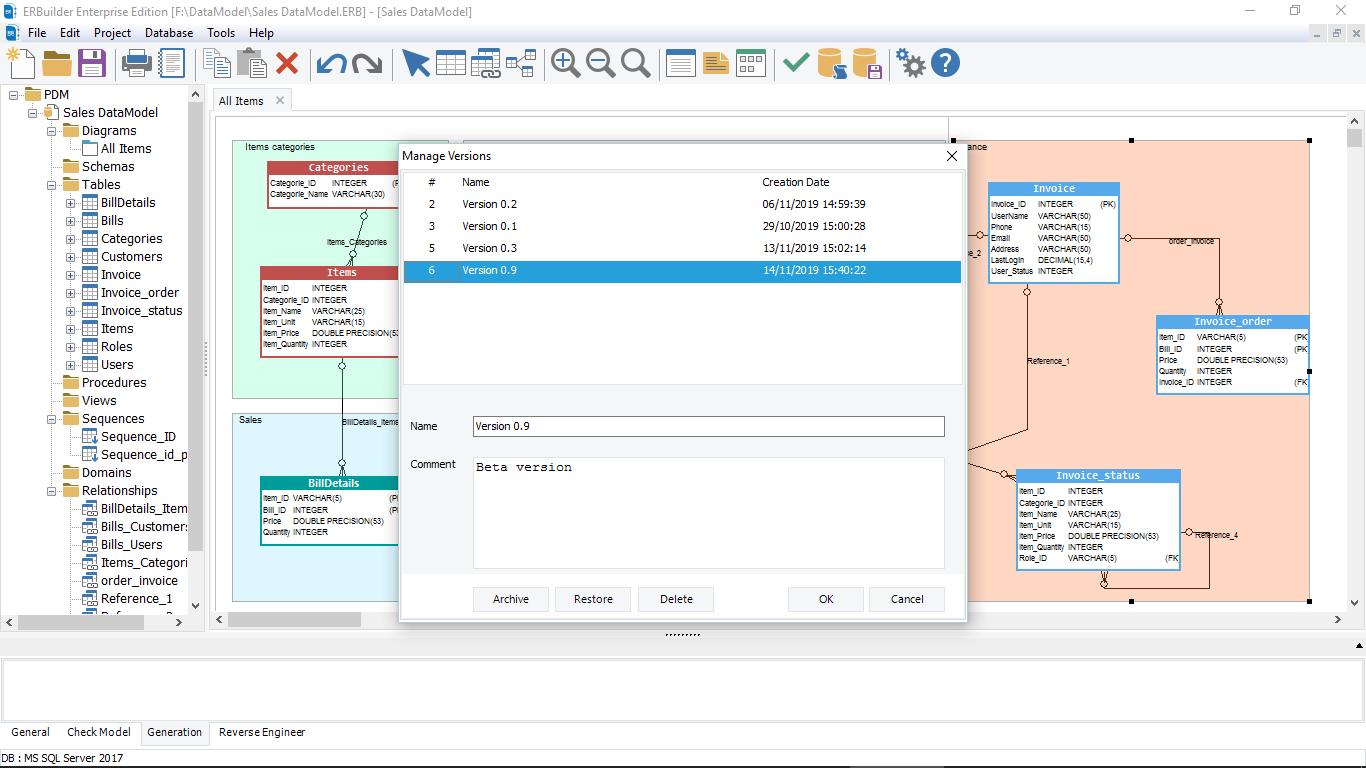 Version management Screenshot-1
