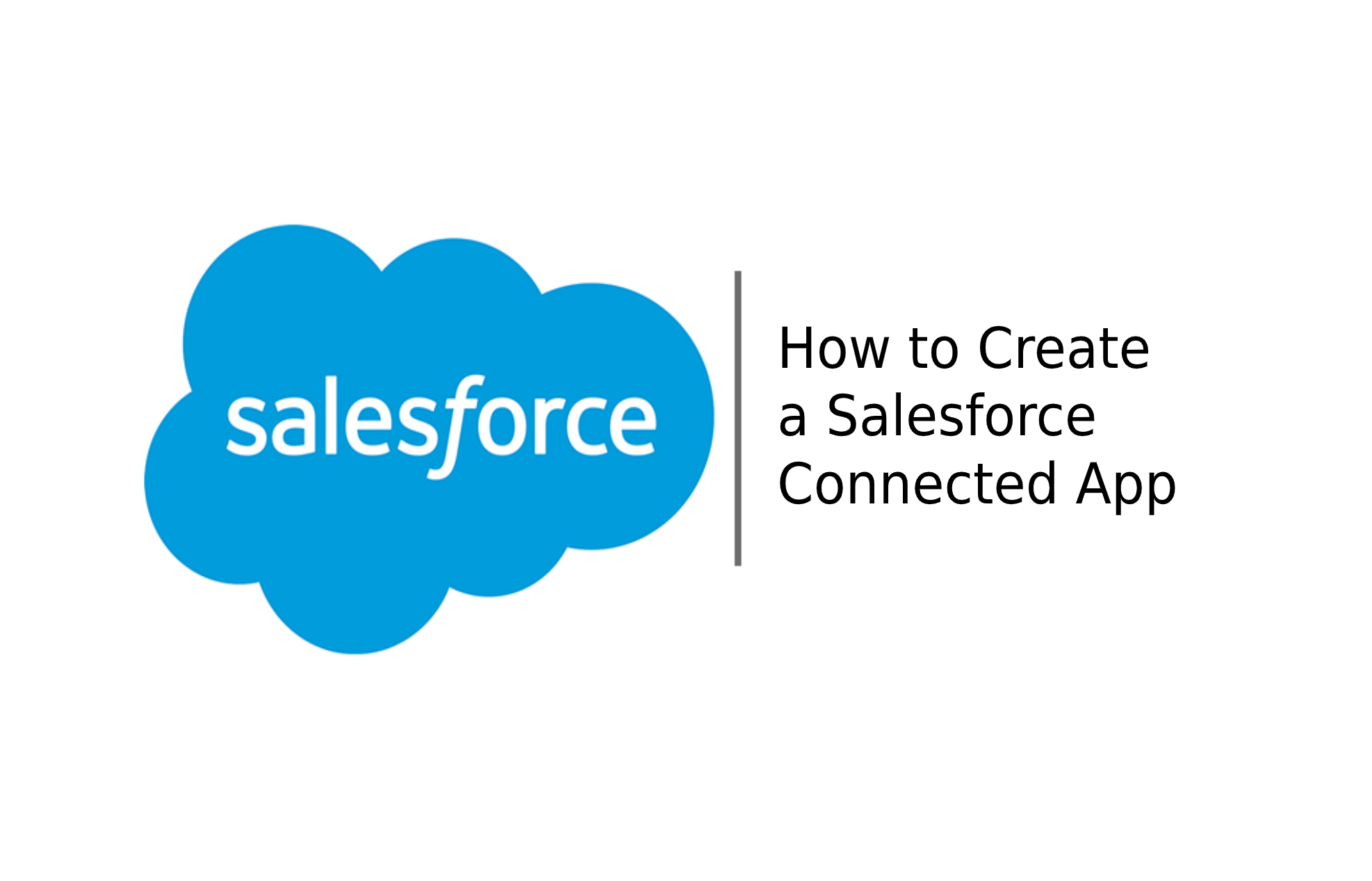 how to create connected appp salesforce