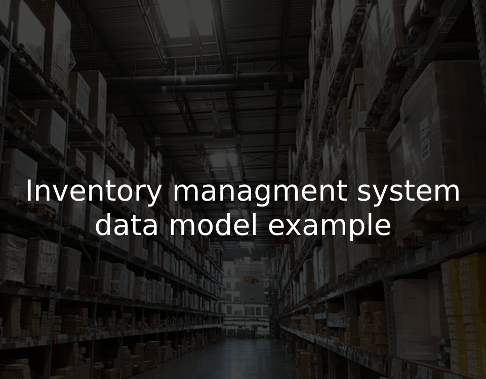 inventory data model