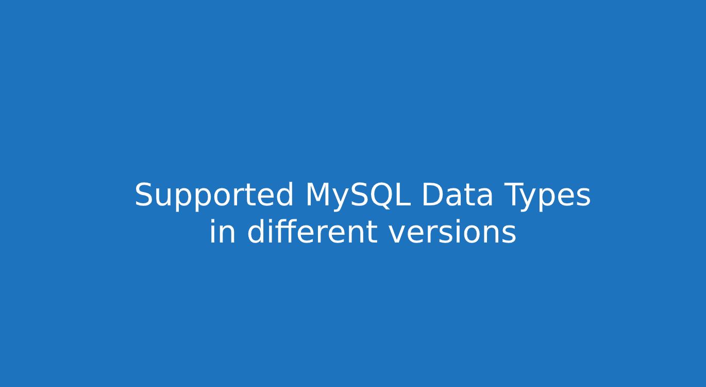 ERBuilder MySQL datatypes study