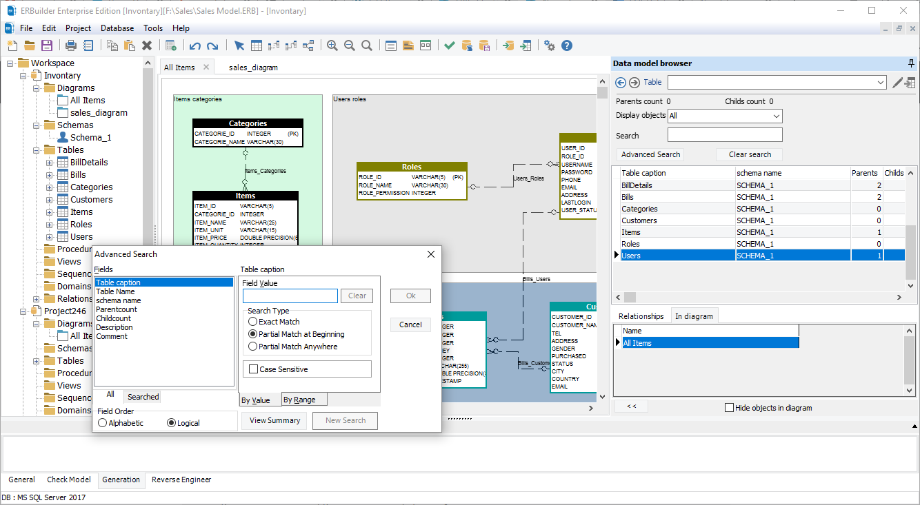 ERBuilder 4.0 Data model exploration utility