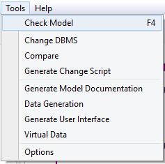 check data model