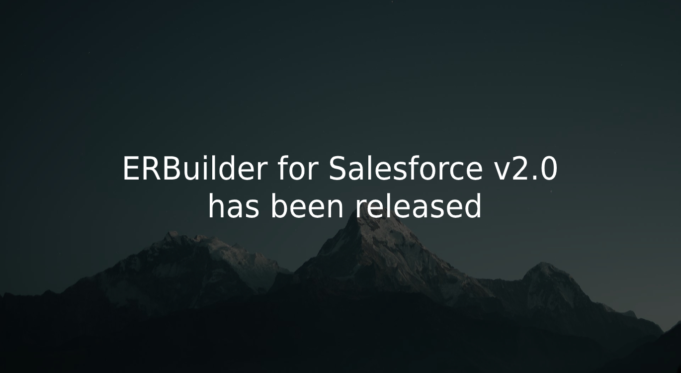 ERBuilder for Salesforce v2.0 released