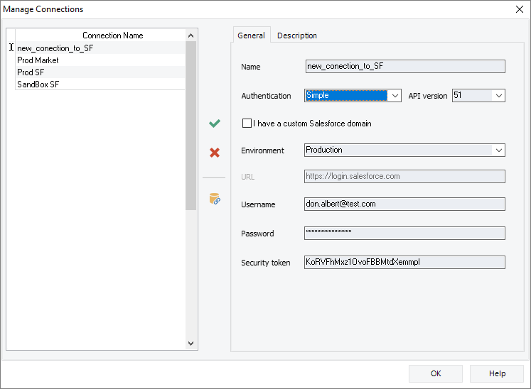 create new connection for data replication