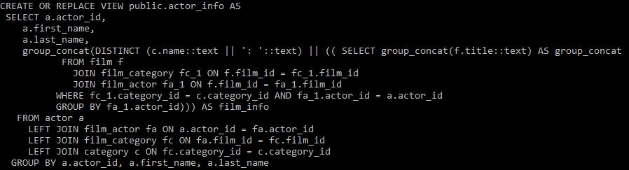 list all views in a PostgreSQL database using psql
