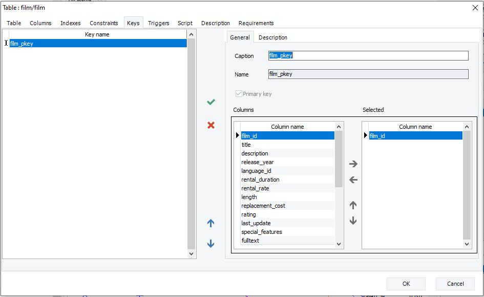 Show primary keys details with erbuilder data modeler- softbuilder