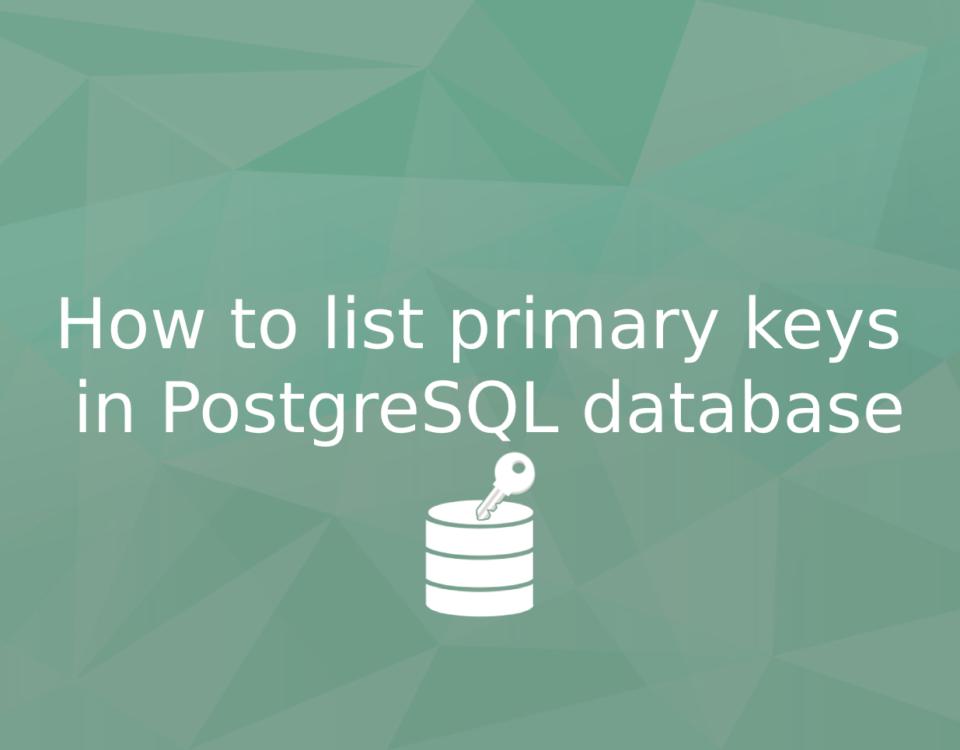 list all primary keys